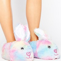 ASOS NIBBLER Bunny Soft Slippers at asos.com
