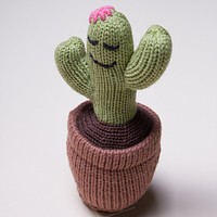 Organic Cactus Rattle Baby Toy