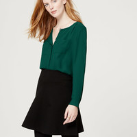 Collarless Utility Blouse | LOFT