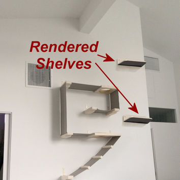 Cat Shelf Room Render Service