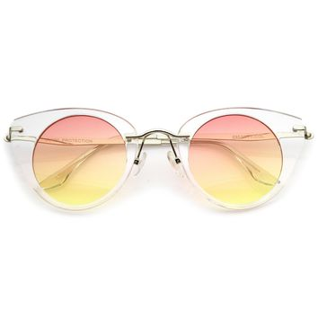 Women's Retro 1950's Round Cat Eye Sunglasses A801