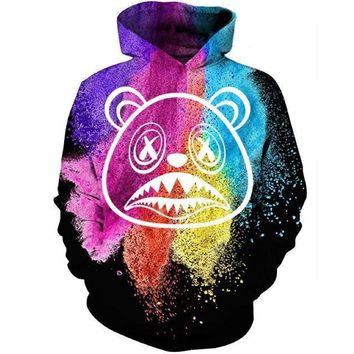 Black Paint Brush Sneaker Hoodie - BAWS