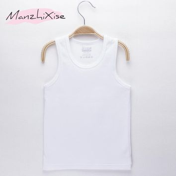 Children Vest Kids Camisole Solid Cotton White Baby Clothes Boy Child Underwear Girl Tank Top Toddler Vests Infant Shirt 2-7Y