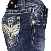 Miss Me Leather Wing Stretch Short - Women's Shorts   Buckle