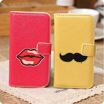 Lovers iphone 4 case,leather,iphone case/iphone 4 bag/iphone 4 sleeve/cell phone