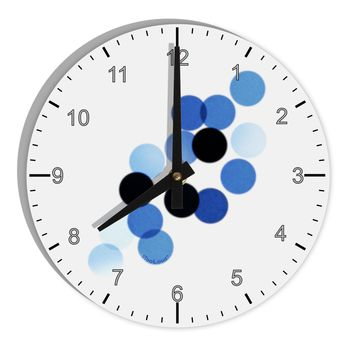 "Inverted Bokeh 8"" Round Wall Clock with Numbers by TooLoud"