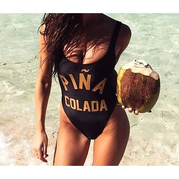 Pina Colada One Piece Swimsuit