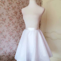 White Tulle Skirt Fashion Women Tulle SKIRT Wedding Tutu Knee Skirt White Party Skirt White Bridesmaid Skirt Wedding Skirt