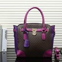 MK Women Shopping Bag Leather Satchel Handbag Tote Shoulder Bag