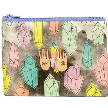 Zipper Pouch | All seeing eyes and crystals