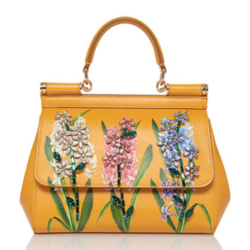 Dauphine Floral-Print Leather Shoulder Bag | Moda Operandi