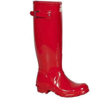 DCK7YE Hunter Pillar Red Original- High Gloss Rain Boot