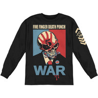 Five Finger Death Punch Men's  War  Long Sleeve Black Rockabilia