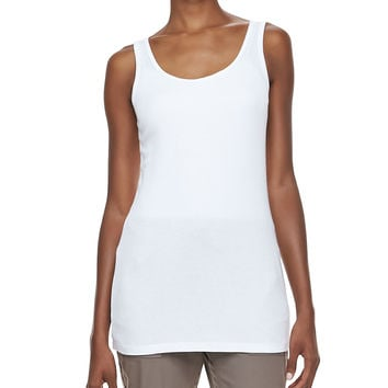 Long Slim-Fit Cotton Tank,