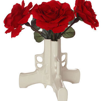 GUN FLOWER VASE | Ceramic Pistol Vase Uses Weapon to Make Peaceful Statement | UncommonGoods