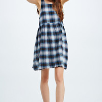 Somedays Lovin' Streamline Plaid Dress in Purple - Urban Outfitters