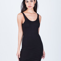 Scoop Back Ribbed Dress