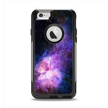 The Vibrant Purple and Blue Nebula Apple iPhone 6 Otterbox Commuter Case Skin Set