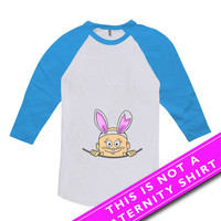 Easter Pregnancy Announcement Shirt Baby Announcement Peek A Boo Baby Gifts For Expecting Mother American Apparel Unisex Raglan MAT-481
