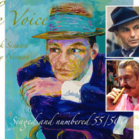 """Limited Edition Signed and numbered 55/500 Leroy Neiman """"The Voice"""" Frank Sinatra Serigraph  Modern Wall Art  Retro Portrait"""