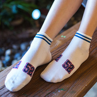 Cotton Sports Summer White Socks 4 pairs/set [10383499148]