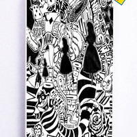 Alice In Wonderland Collage for Iphone 5C Cover Rubber Case
