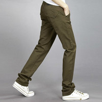 Hunter Green Relaxed Fit Pants