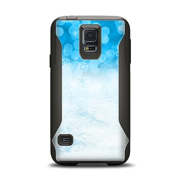 The Winter Blue Abstract Unfocused Samsung Galaxy S5 Otterbox Commuter Case Skin Set