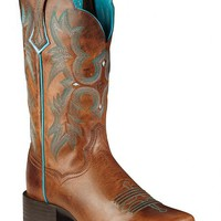 Ariat Brown Tombstone Boots - Wide Square Toe - Sheplers