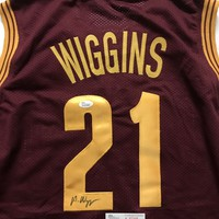 Andrew Wiggins Signed Autographed Cleveland Cavaliers Basketball Jersey (JSA COA)