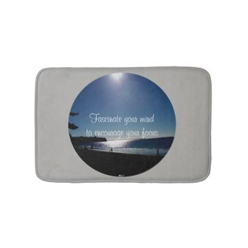 Fascinate Quote by Kat Worth Bathroom Mat