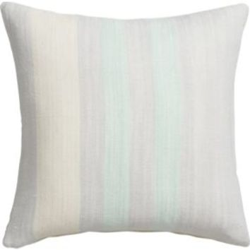 """Cotton And Bamboo Stripes 18"""" Pillow With Down-alternative Insert"""