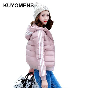KUYOMENS New Autumn Winter Jacket Coat Women Parka Woman Clothes Solid Long Jacket Slim Women's Winter Jackets And Coats