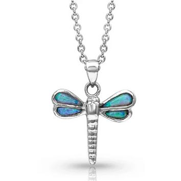 Montana Silversmith ~ Dragonfly in Opal Necklace