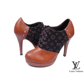 Louis Vuitton Women Fashion Heels Shoes-3