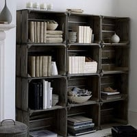 SALE Crate Storage Bookshelf bookcase Made to by CamilleMontgomery