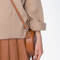 Tan Circle Cross Body Bag