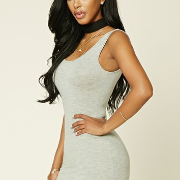 Heathered Knit Mini Dress