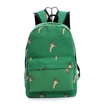 Lovely Korean Canvas Casual Backpack Bag