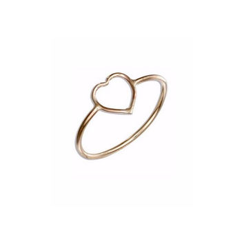 Ring - 12 Karat Gold Filled Open Heart Ring