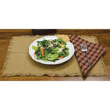 Burlap Placemats, 2/set