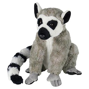 "10"" Ring-Tailed Lemur Stuffed Animal Plush Floppy Zoo Species Collection"