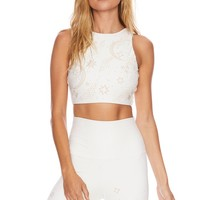 Celestial Beaded Kendal Top Ivory