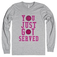 You just got served /volleyball-Unisex Heather Grey T-Shirt