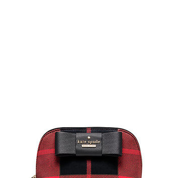 Kate Spade Julia Street Plaid Small Annabella Cherry Liqueur Multi ONE