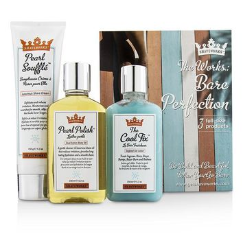 Shaveworks Bare Perfection Kit: Shave Cream 150g + Targeted Gel Lotion 156ml + Body Oil 156ml - 3pcs