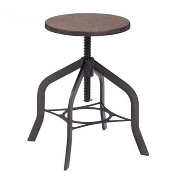 Zuo Modern Socrates Bar stool (Rustic Wood)