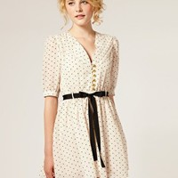 Dahlia Heart Print Chiffon Dress $114.48