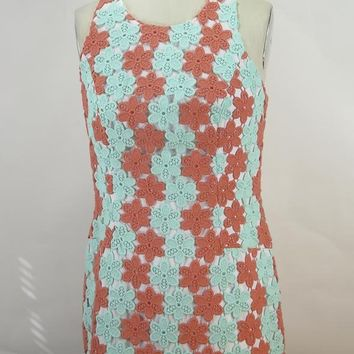 Lilly Pulitzer Women's Floral Lace Cotton Shift Dress SZ 6