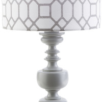 Wilson Outdoor Table Lamp Gray Gray Print
